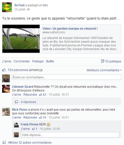 So Foot et Facebook en un post insolite !