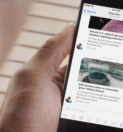 Facebook lance Instant Articles pour Messenger