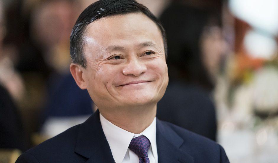 Une photographie de Jack Ma.