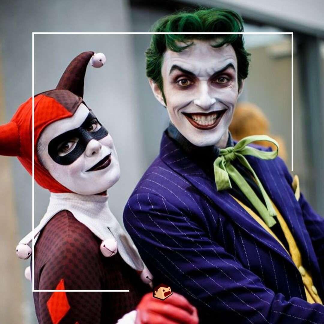 cosplay joker et harley quinn retro comics