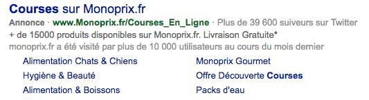 lien sponso de Monoprix Bing