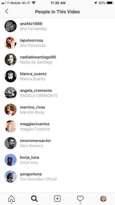 Instagram : bientôt la possibilité de taguer des utilisateurs sur les vidéos ?