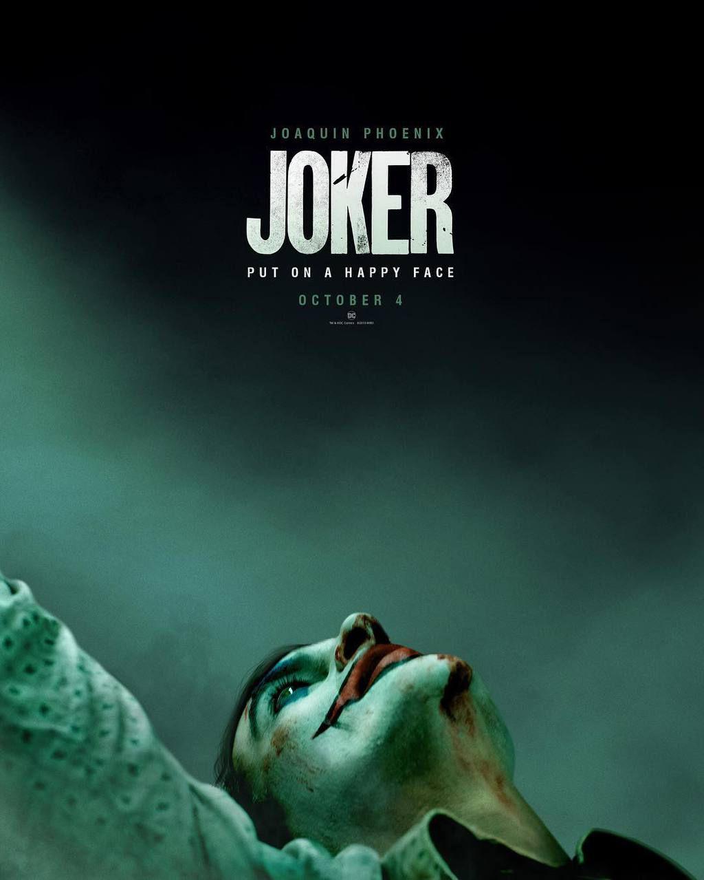 affiche officielle du film Joker de Todd Phillips