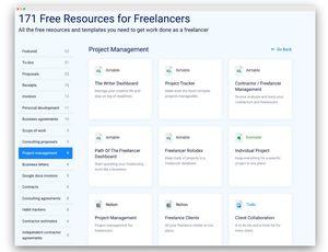 templates et ressources gratuits pour les freelances