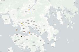 Capture d'écran du site hkmap.live.