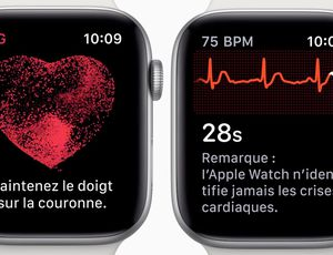 Une application est liée à la surveillance de votre coeur par l'Apple Watch