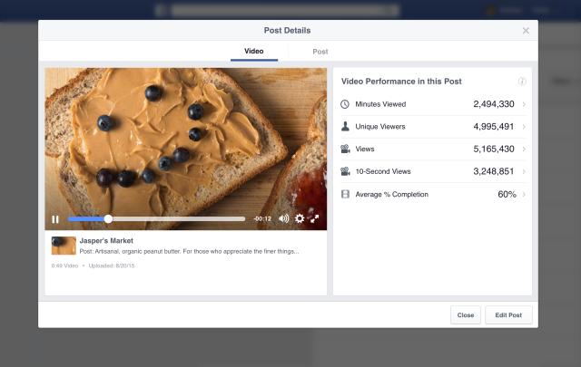 nouvelle presentation des statistiques videos facebook