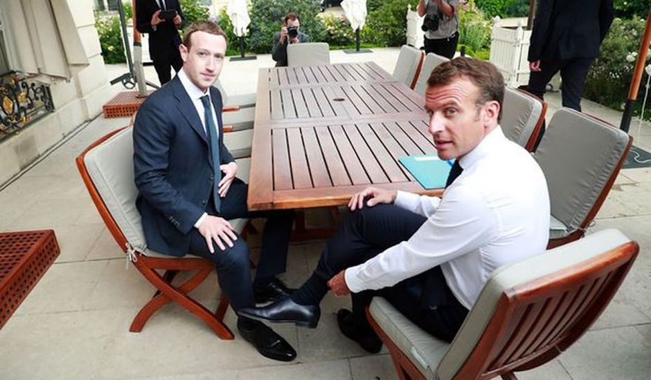 Zuckerberg Macron discussion