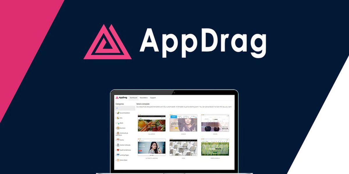 AppDrag : une plateforme pour créer votre site web rapidement en drag & drop