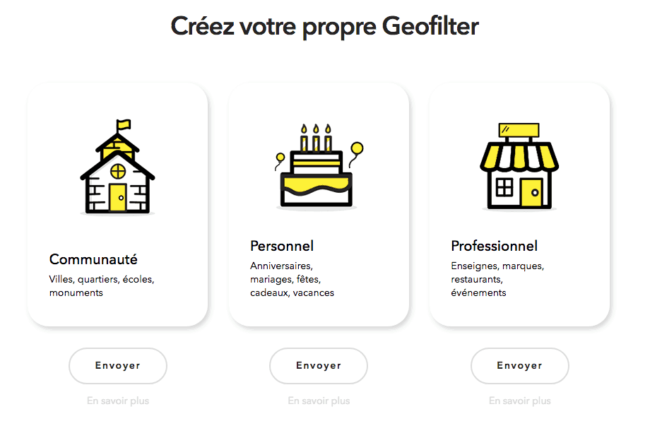 snapchat on-demand geofilters france