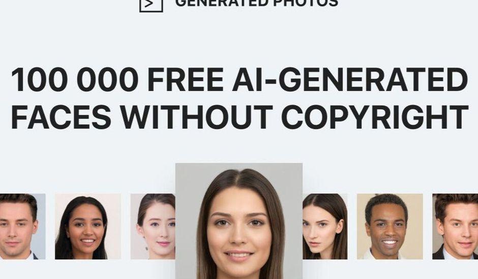 banque image visages crées par IA