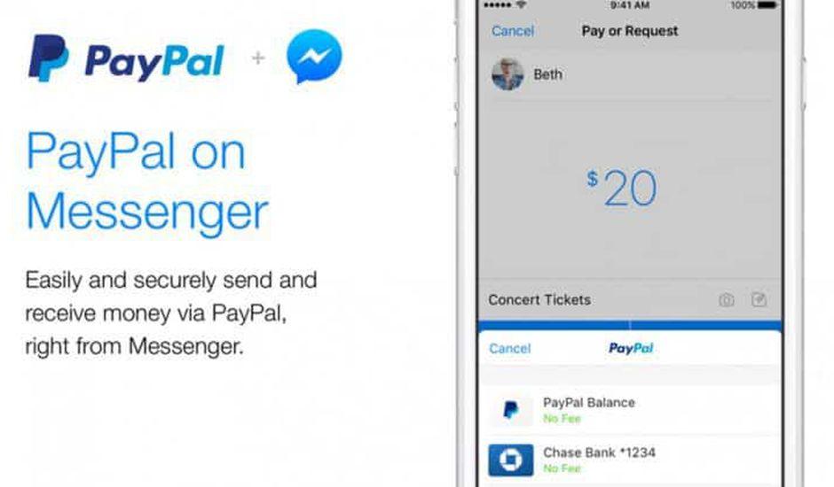 PayPal dans Messenger