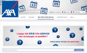 SAV de Axa sur Facebook