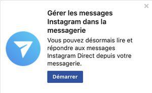 messagerie instagram facebook