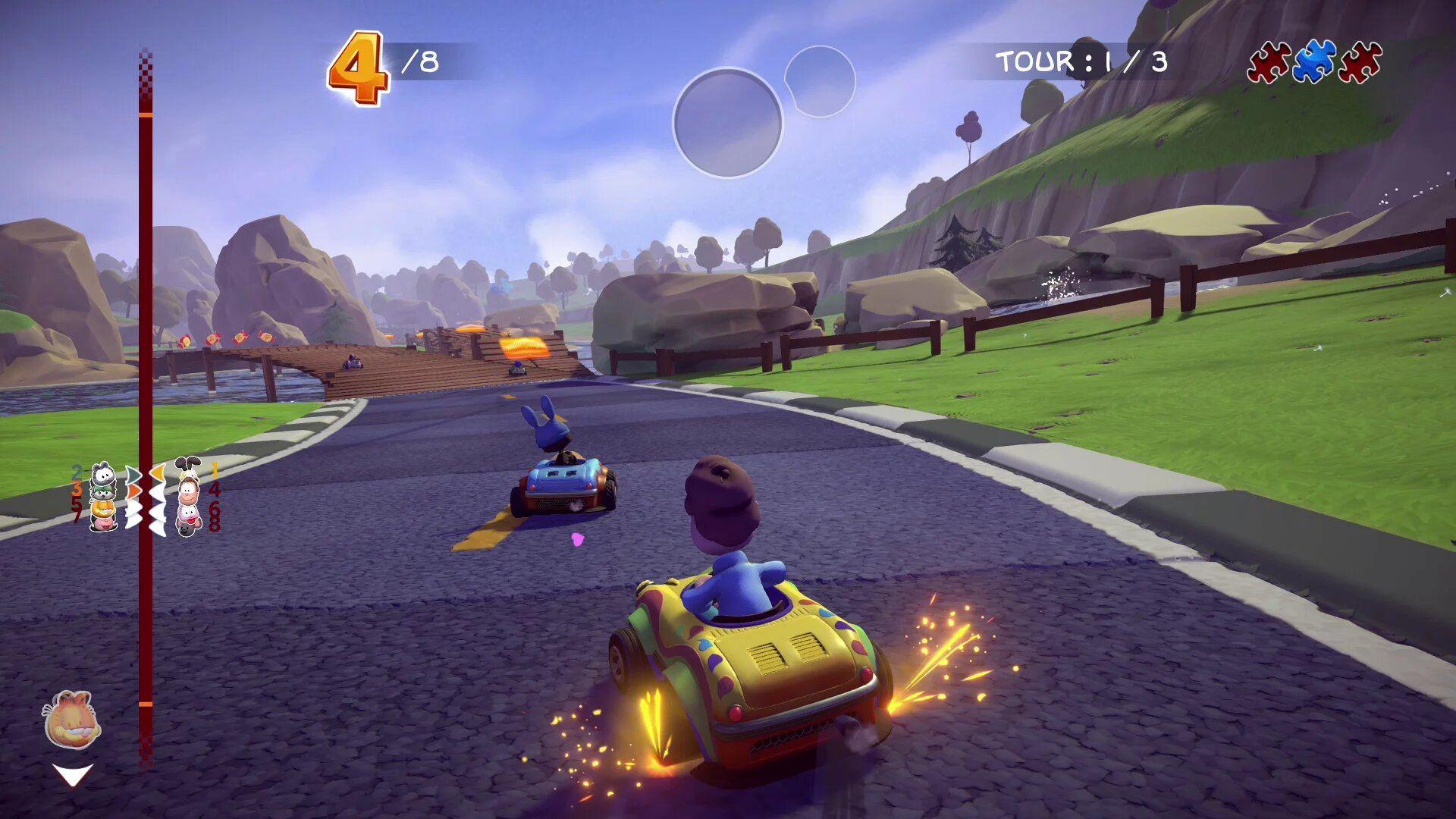 Garfield Kart Furious Racing arrive sur Switch cet hiver