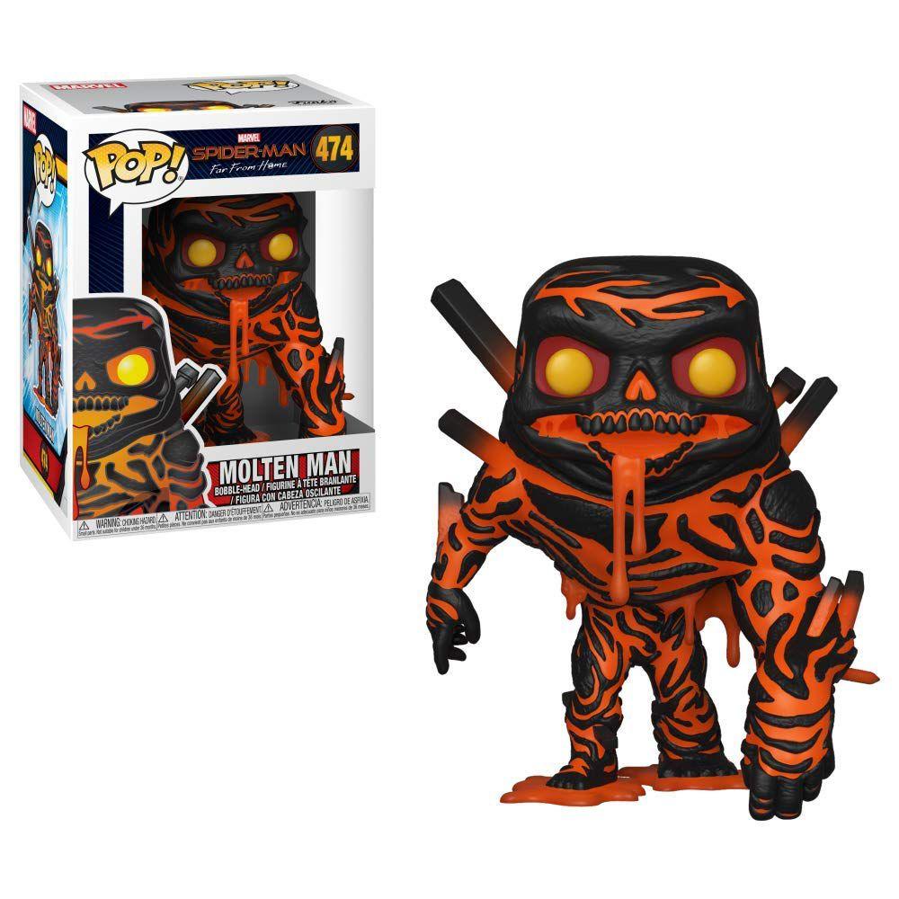 molten-man figurine funko pops spider-man far from home
