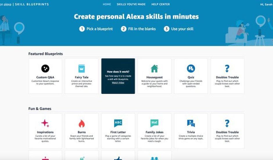 Il est désormais possible de créer ses propres skills avec Alexa