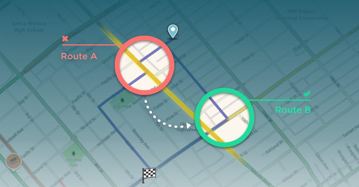 Waze intersections