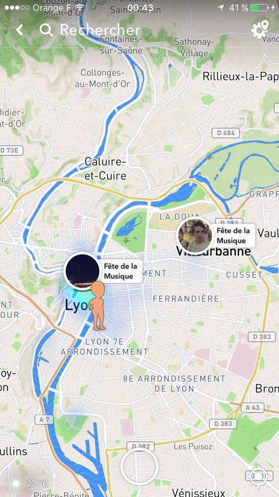 snap map : fonctionnalité de géolocalisation