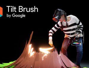 Tilt Brush : une femme peint un volcan en réalité virtuelle