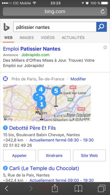 avantages du search recherche locale