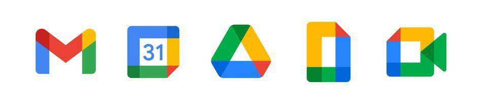 Les nouveaux logos de Google Workspace.