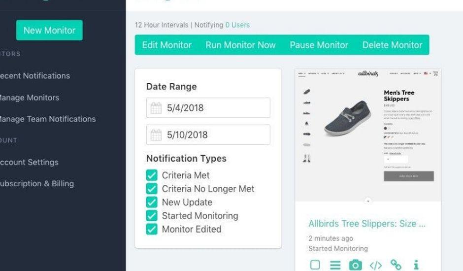 un outil pour surveiller les sites web de vos concurrents