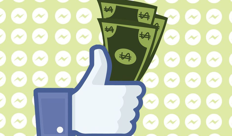 bouton like de facebook tenant des dollars