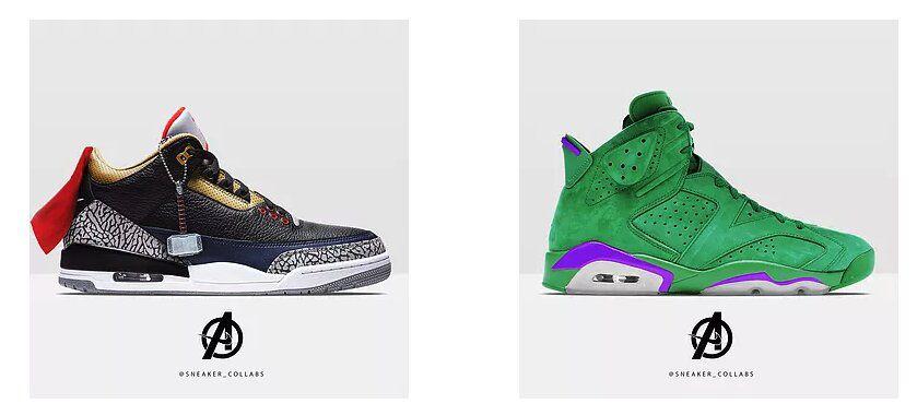Des sneakers aux couleurs des Avengers