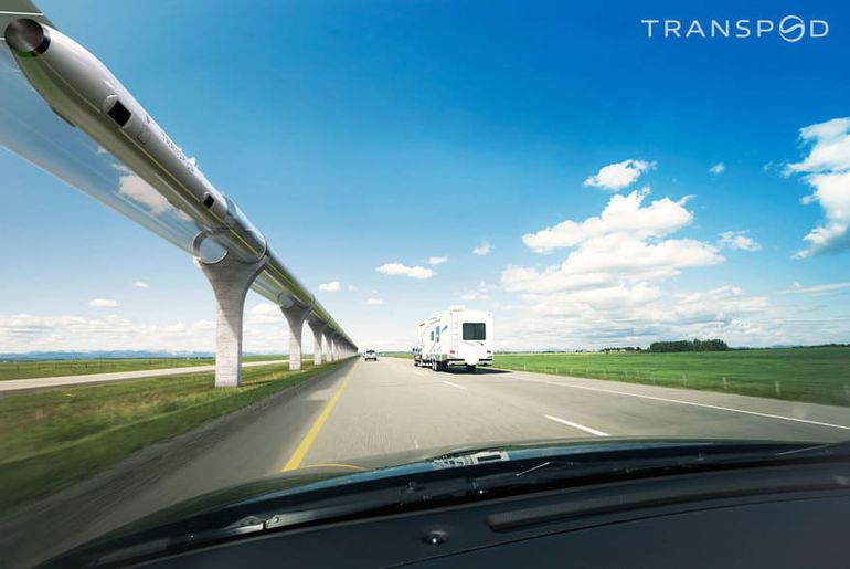 L'hyperloop de Transpod.