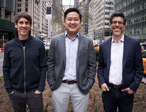 Dennis Crowley, un des cofondateurs de Foursquare ; David Shim, actuel PDG de Foursquare ; Gil Elbaz, fondateur de Factual.