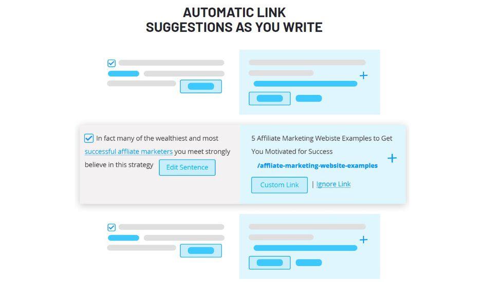 aperçu des suggestions de liens internes via Link Whisper