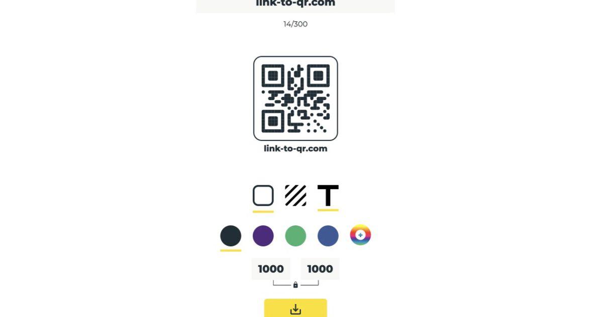 Link to QR : un outil gratuit pour créer des QR Codes personnalisés