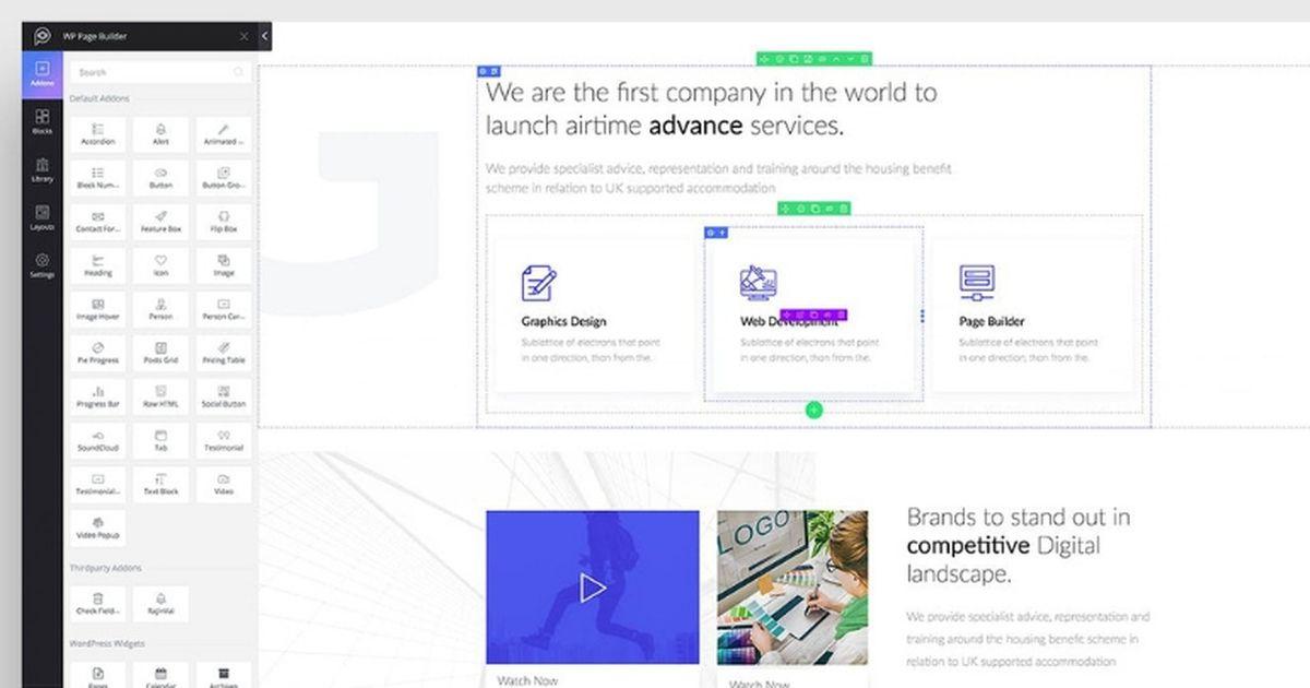 WP Page Builder : un générateur de page WordPress en drag and drop gratuit, rapide et intuitif