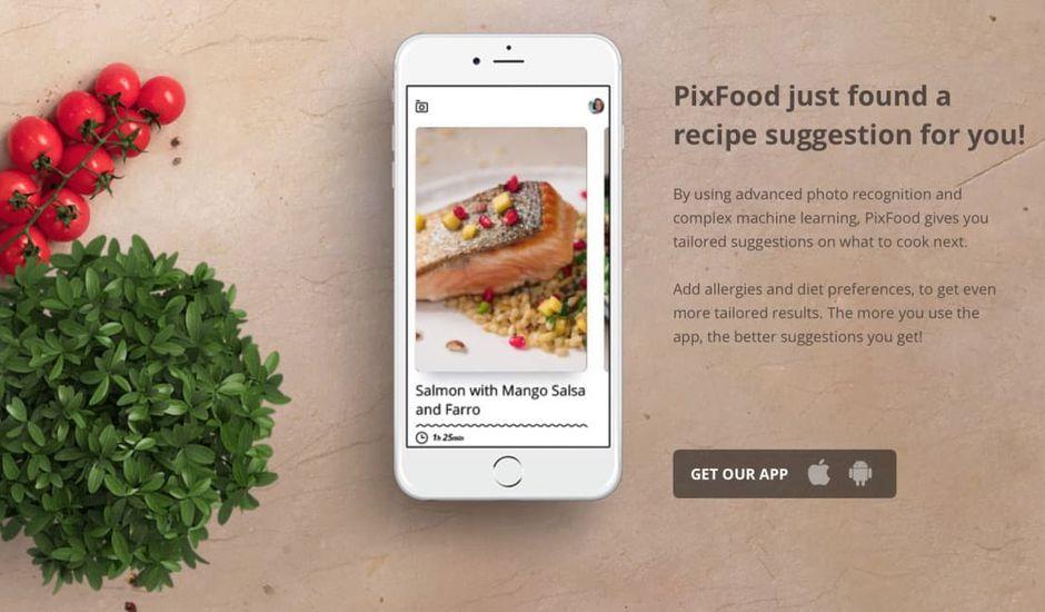 PixFood : prenez une photo d'un aliment pour trouver la recette de votre choix !