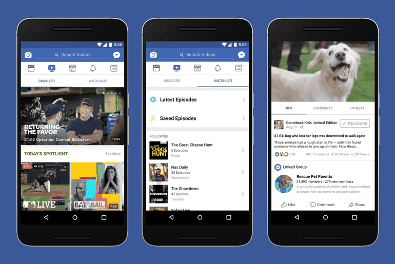 Facebook plateforme Watch