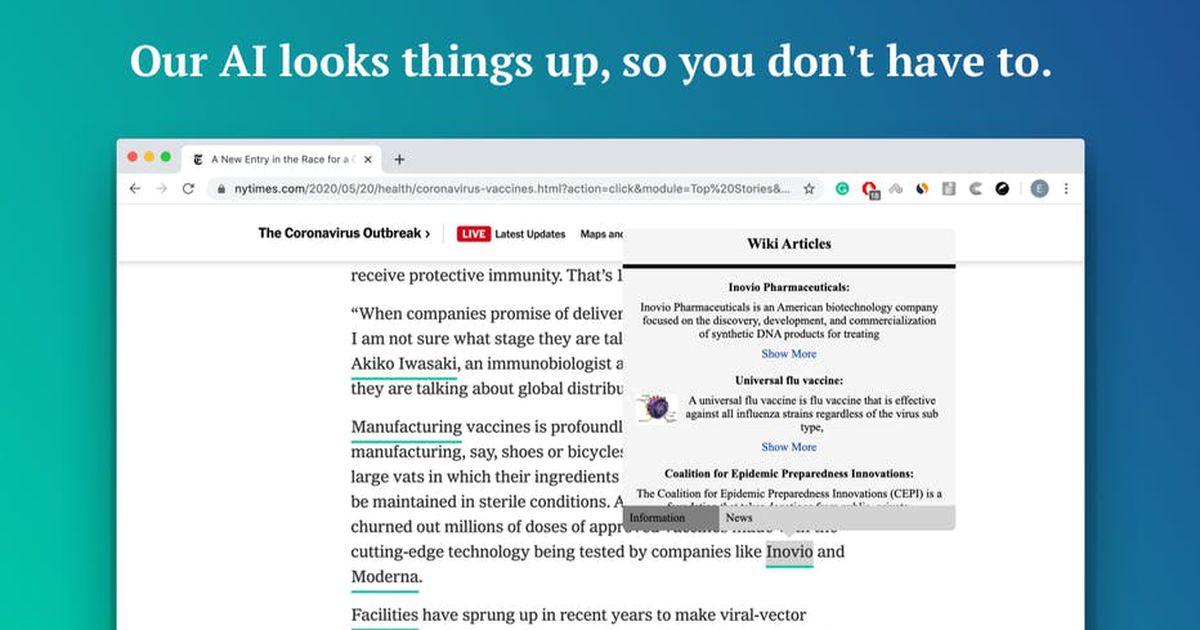 Cette extension Chrome gratuite utilise l'IA pour identifier les termes méconnus dans des articles