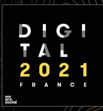 Aperçu de l'illustration du Digital Report 2021.