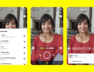 Les interfaces de la nouvelle fonctionnalité Snapchat.