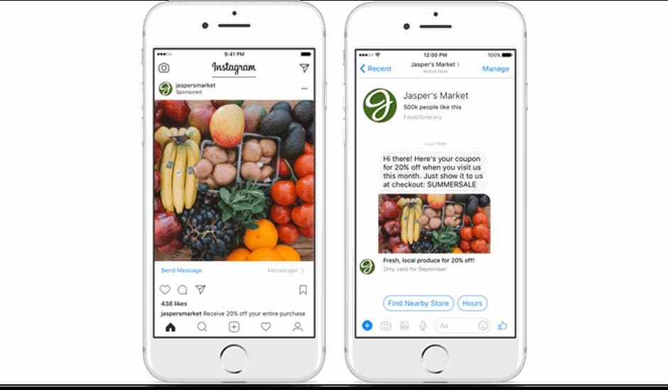 Instagram relié à Messenger
