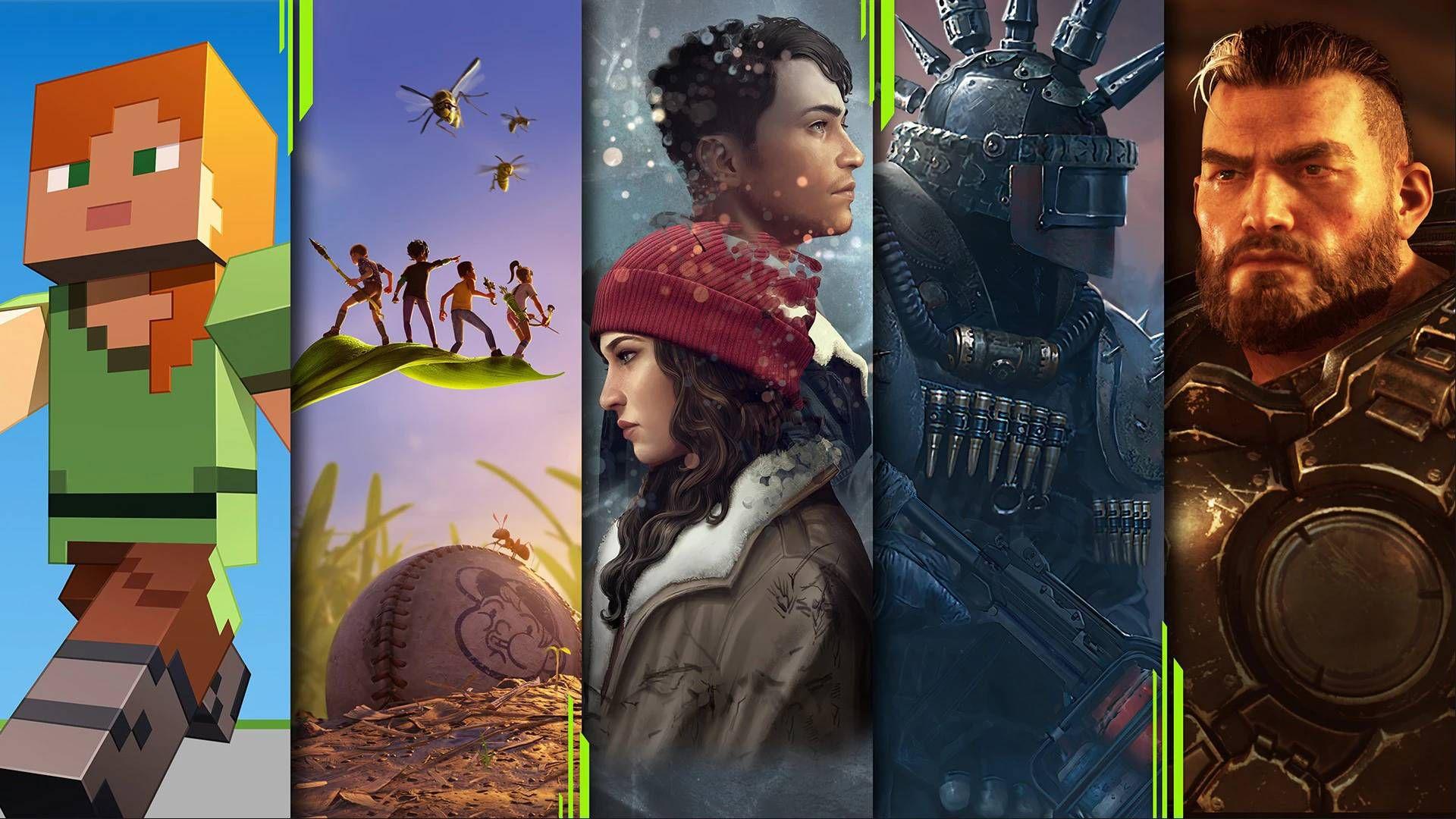 Un montage présentant différents jeux incorporés dans le Xbox Game Pass.