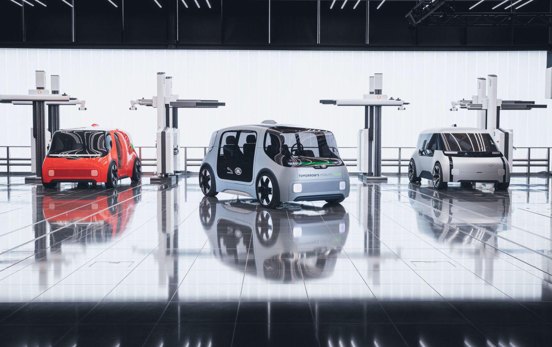Jaguar Land Rover développe un prototype de navette urbaine.