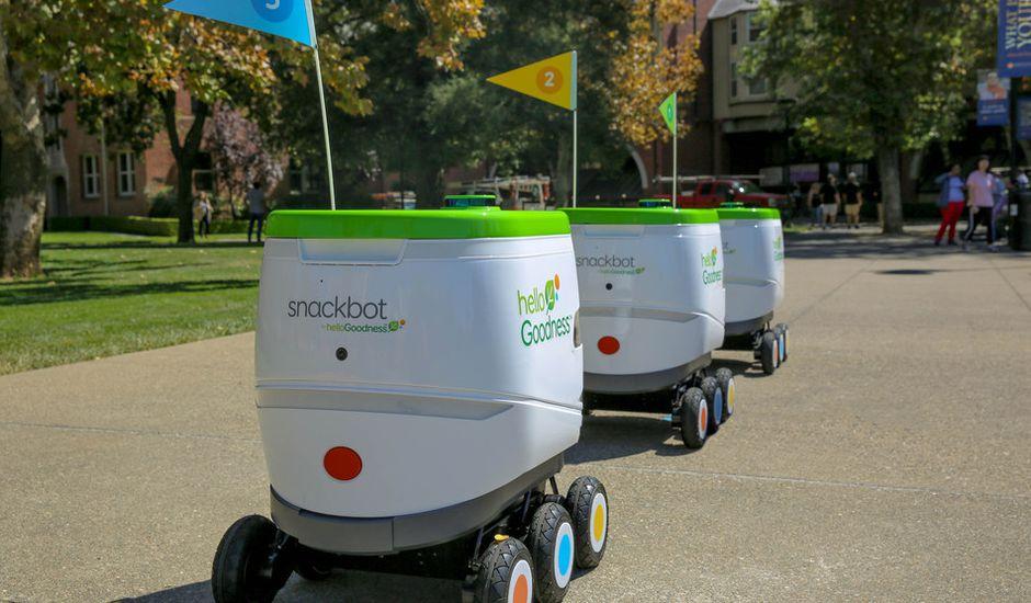 En Californie, PepsiCo a déployé une flotte de robots qui livrent des collations aux étudiants