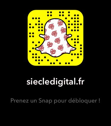 snapchat snapcodes siecle digital