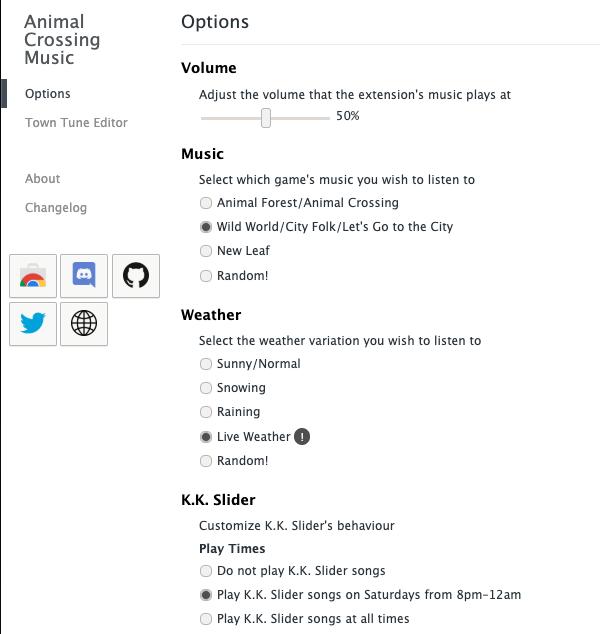 animal crossing music extension google chrome