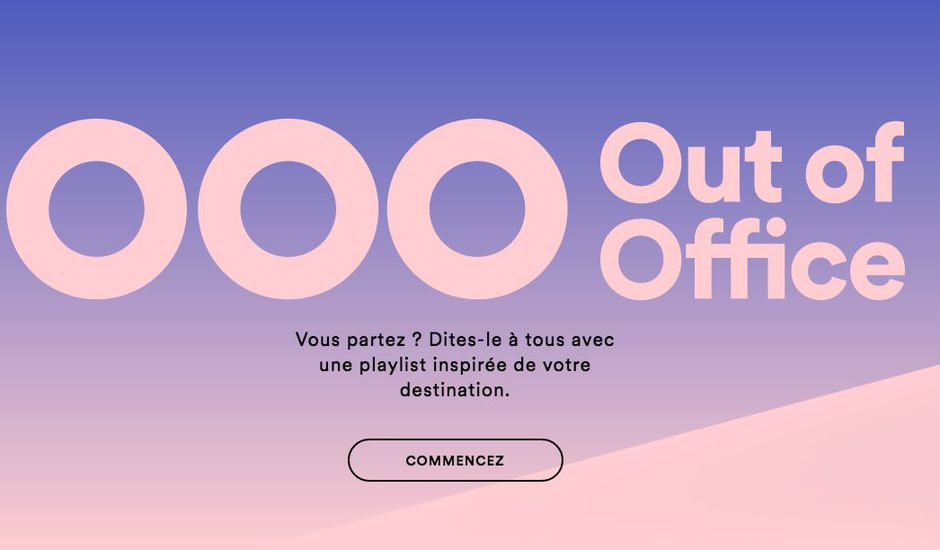Spotify Out Of Office