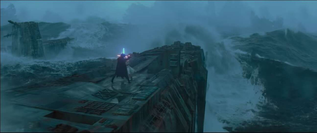combat épique rey et kylo ren dans star wars épisode 9