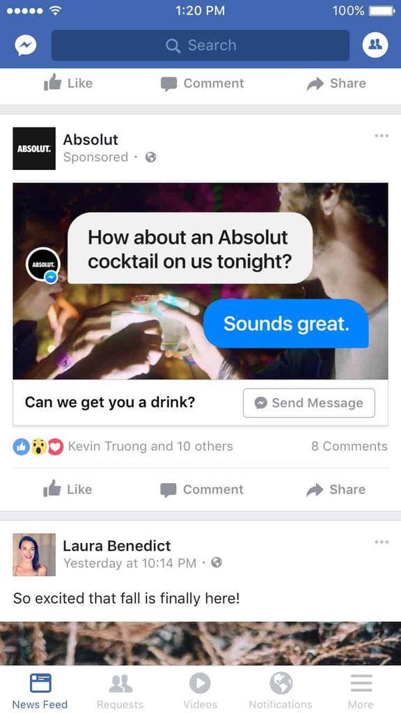 facebook ads messenger platform