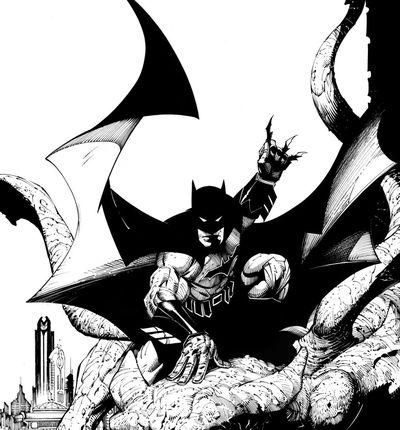 couverture batman black white