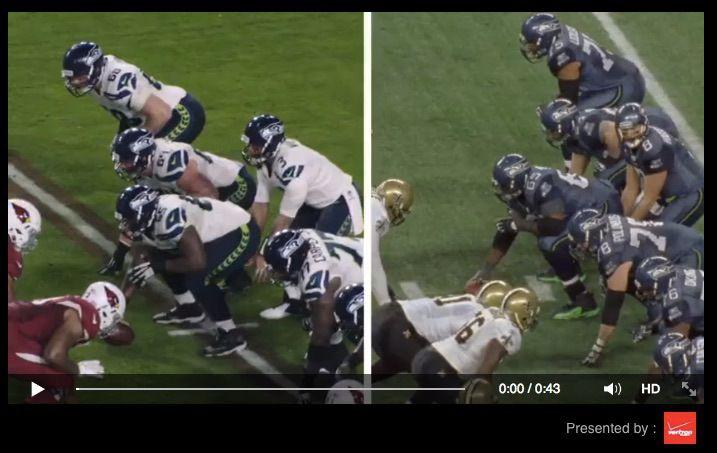 La vidéo de la NFL sponsorisée par Verizon sur Facebook